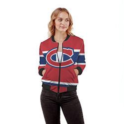 Бомбер женский Montreal Canadiens цвета 3D-черный — фото 2