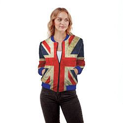 Бомбер женский Великобритания цвета 3D-синий — фото 2