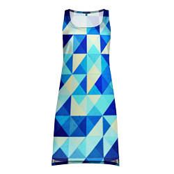 Женская туника Синяя геометрия