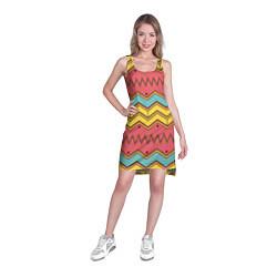 Туника женская Цветные зигзаги цвета 3D — фото 2