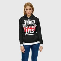 Толстовка-худи женская The iron never lies цвета 3D-белый — фото 2