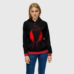 Толстовка-худи женская Zombie Rock цвета 3D-красный — фото 2