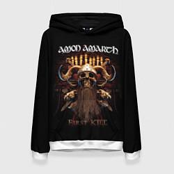 Толстовка-худи женская Amon Amarth: First kill цвета 3D-белый — фото 1