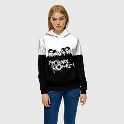 Толстовка-худи женская My Chemical Romance B&W цвета 3D-черный — фото 2