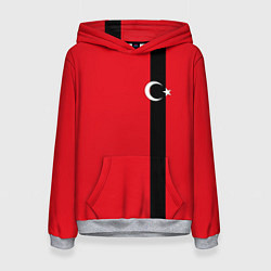 Толстовка-худи женская Турция цвета 3D-меланж — фото 1