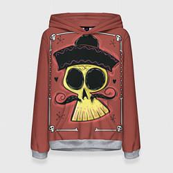 Толстовка-худи женская Dia de los Muertos цвета 3D-меланж — фото 1