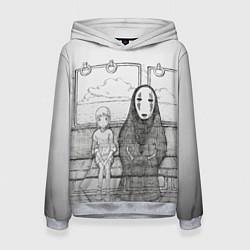 Толстовка-худи женская Унесенные призраками цвета 3D-меланж — фото 1