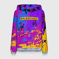 Толстовка-худи женская Balenciaga: Neon Fashion цвета 3D-меланж — фото 1