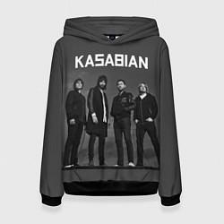 Толстовка-худи женская Kasabian: Boys Band цвета 3D-черный — фото 1
