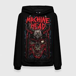 Толстовка-худи женская Machine Head: Blooded Skull цвета 3D-черный — фото 1