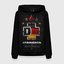 Толстовка-худи женская Rammstein: Deutschland цвета 3D-черный — фото 1