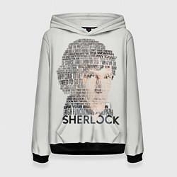 Толстовка-худи женская Sherlock цвета 3D-черный — фото 1