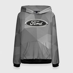 Толстовка-худи женская Ford чб цвета 3D-черный — фото 1