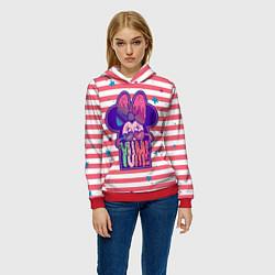 Толстовка-худи женская Minnie Mouse YUM! цвета 3D-красный — фото 2