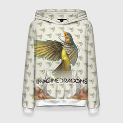 Толстовка-худи женская Imagine Dragons: Fly цвета 3D-белый — фото 1