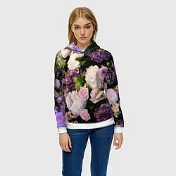 Толстовка-худи женская Весенние цветы цвета 3D-белый — фото 2