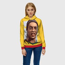 Толстовка-худи женская Ronaldinho Art цвета 3D-красный — фото 2