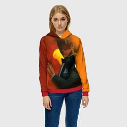 Толстовка-худи женская Lucifer Cartoon цвета 3D-красный — фото 2