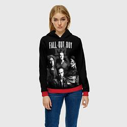 Толстовка-худи женская Fall out boy band цвета 3D-красный — фото 2