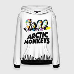 Толстовка-худи женская Arctic Monkeys: Music Wave цвета 3D-черный — фото 1