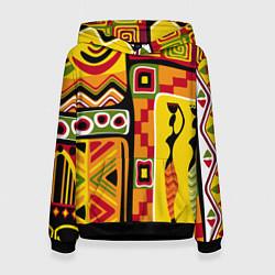Толстовка-худи женская Африка цвета 3D-черный — фото 1