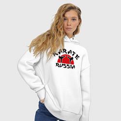 Толстовка оверсайз женская Karate Russia цвета белый — фото 2