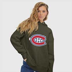 Толстовка оверсайз женская Montreal Canadiens цвета хаки — фото 2