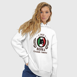 Толстовка оверсайз женская AS Roma: Grande Amore цвета белый — фото 2