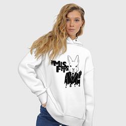 Толстовка оверсайз женская Misfits Rabbit цвета белый — фото 2