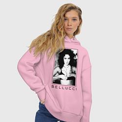Толстовка оверсайз женская Monica Bellucci: Black цвета светло-розовый — фото 2
