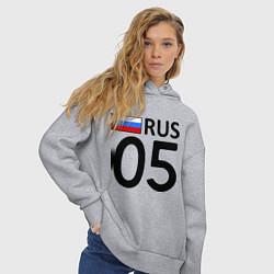 Толстовка оверсайз женская RUS 05 цвета меланж — фото 2