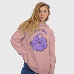 Толстовка оверсайз женская Oh, my Glob! цвета пыльно-розовый — фото 2