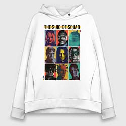 Толстовка оверсайз женская The Suicide Squad цвета белый — фото 1