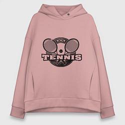 Толстовка оверсайз женская Tennis цвета пыльно-розовый — фото 1