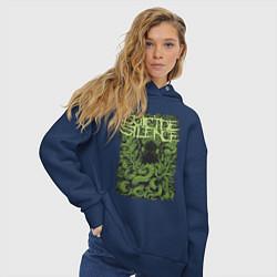 Толстовка оверсайз женская Suicide Silence цвета тёмно-синий — фото 2