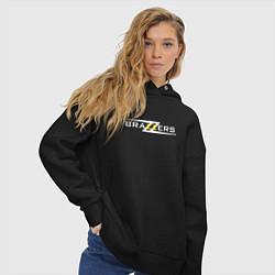 Толстовка оверсайз женская Big Brazzers цвета черный — фото 2