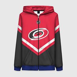 Толстовка на молнии женская NHL: Carolina Hurricanes цвета 3D-синий — фото 1