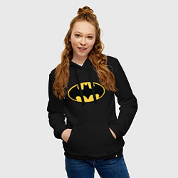 Толстовка-худи хлопковая женская Batman цвета черный — фото 2