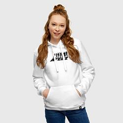 Толстовка-худи хлопковая женская Ateez цвета белый — фото 2