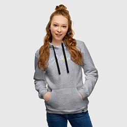 Толстовка-худи хлопковая женская Stray Kids цвета меланж — фото 2