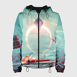 Куртка с капюшоном женская No Mans Sky цвета 3D-черный — фото 1