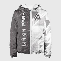 Куртка с капюшоном женская Linkin Park: Grey Form цвета 3D-белый — фото 1
