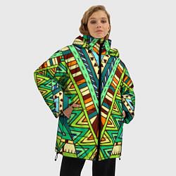 Куртка зимняя женская Этно цвета 3D-черный — фото 2