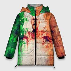 Женская зимняя 3D-куртка с капюшоном с принтом Conor McGregor: Ireland, цвет: 3D-черный, артикул: 10102373006071 — фото 1