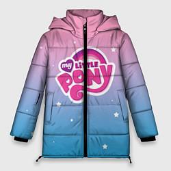 Женская зимняя 3D-куртка с капюшоном с принтом My Little Pony, цвет: 3D-черный, артикул: 10108222706071 — фото 1