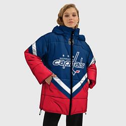 Женская зимняя 3D-куртка с капюшоном с принтом NHL: Washington Capitals, цвет: 3D-черный, артикул: 10112246006071 — фото 2