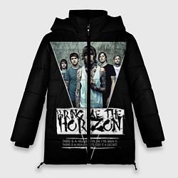 Женская зимняя 3D-куртка с капюшоном с принтом Bring Me The Horizon, цвет: 3D-черный, артикул: 10112870006071 — фото 1