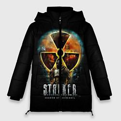 Женская зимняя 3D-куртка с капюшоном с принтом STALKER: Shadow of Chernobyl, цвет: 3D-черный, артикул: 10113004406071 — фото 1