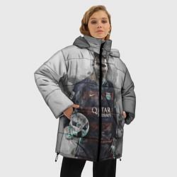 Женская зимняя 3D-куртка с капюшоном с принтом Lionel Messi, цвет: 3D-черный, артикул: 10113185306071 — фото 2
