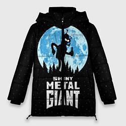 Женская зимняя 3D-куртка с капюшоном с принтом Bender Metal Giant, цвет: 3D-черный, артикул: 10113798806071 — фото 1